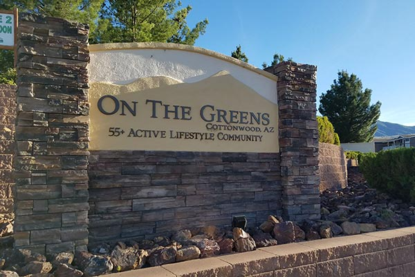 On The Greens Signage